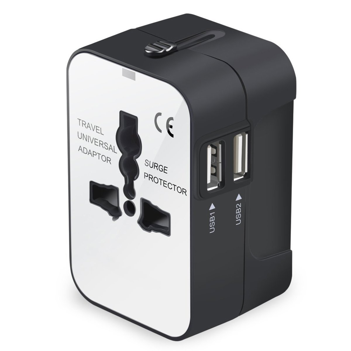 Travel Adapter, Universal International All-in-One Worldwide Travel Adaptor Wall Charger AC Power Plug Adapter Charger with Dual USB Port for USA UK EU AUS MINGTONG 4326543656