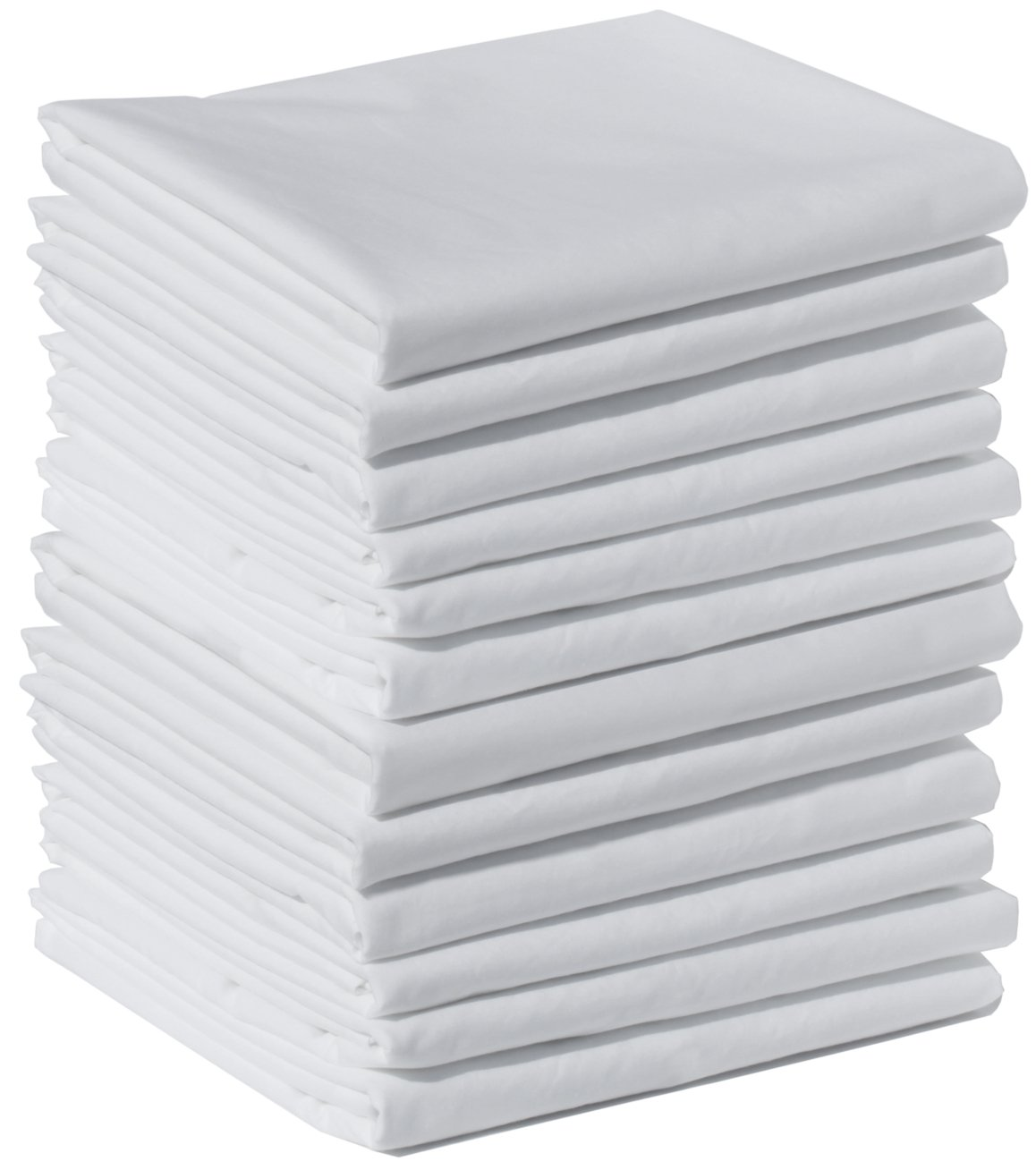 Polycotton Bulk Pack of 12 King Size Pillowcases, White 200 Thread Count, 21''x40'' White (Fits 20'' X36'' Pillow), 1 Dozen, Perfect for Physical Therapy Clinics, Hotels, Camps …