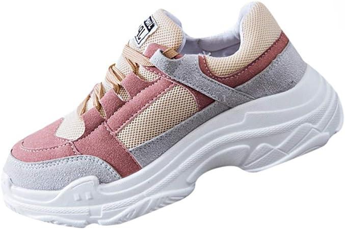 Zapatos Mujer Verano 2019 SUNNSEAN Zapatillas Deporte Mujer Sport/Zapatillas Zapatos Confort Suela Tipo Bloque de 4 cm Suela Blanca y Material Textil Combinado Cordones al Tono Zapatilla de Moda: Amazon.es: Instrumentos musicales