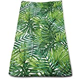 Xayeu Leaf Banana Forest Palm Tree Leaves Cotton Bath Towels for Hotel-Spa-Pool-Gym-Bathroom - Super Soft Absorbent Ringspun Towels