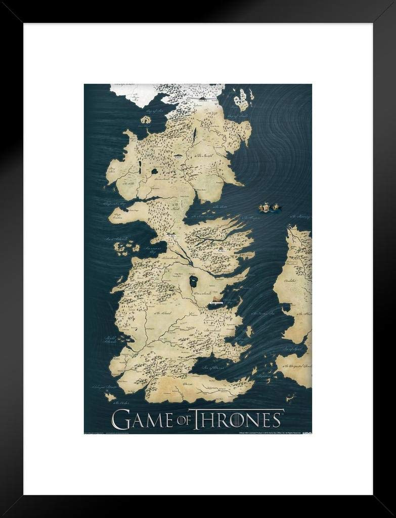 Amazon.com: Game of Thrones Map Wall Poster: Prints: Posters & Prints