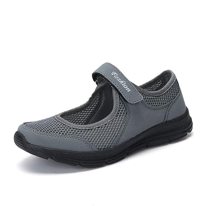 Slip Fitness Malla Velcro Deportes Ligeros Zapatos Casuales Zapatillas Deportivas: Amazon.es: Ropa y accesorios