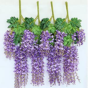 FYYDNZA 12Pcs Lot 110Cm Artificial Flower String Hanging Plant Silk Wisteria Fake Wedding Wall Home Garden Valentine'S Day Decoration 41