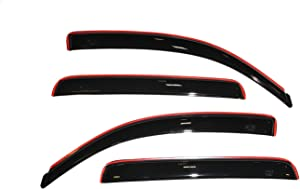 Auto Ventshade 194056 In-Channel Ventvisor Side Window Deflector, 4-Piece Set for 2005-2015 Toyota Tacoma Double Cab