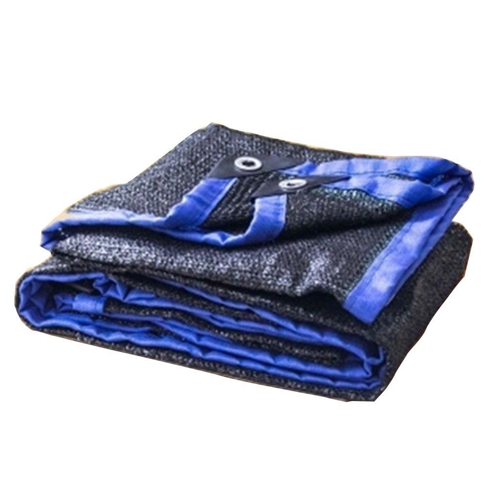 noir bleu 4x5m AJZGF Tissu imperméable à l'eau imperméable Filet de l'ombre, l'ombre sur Le Toit terrasse de la Cour d'isolation Thermique Soleil Net Net Net