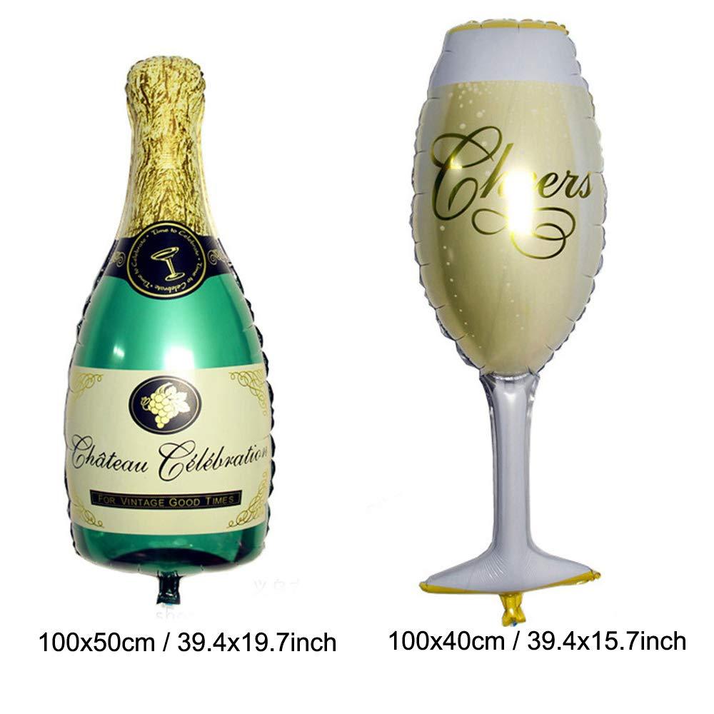 Ghirlanda di Happy New Year Nera e Oro 2020 Anni Numero Palloncini Bottiglia Stella Palloncini Foil Champagne Ghirlanda Triangolare Palloncino Zerodeco Forniture per Feste di Capodanno