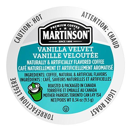 Martinson Single Serve Coffee Capsules, Vanilla Velvet, 24 Count