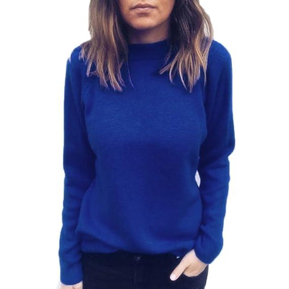 ZODOF Camisas Mujer Casual, Camiseta de Cuello Alto de Solapa Casual para Mujer Camisetas de