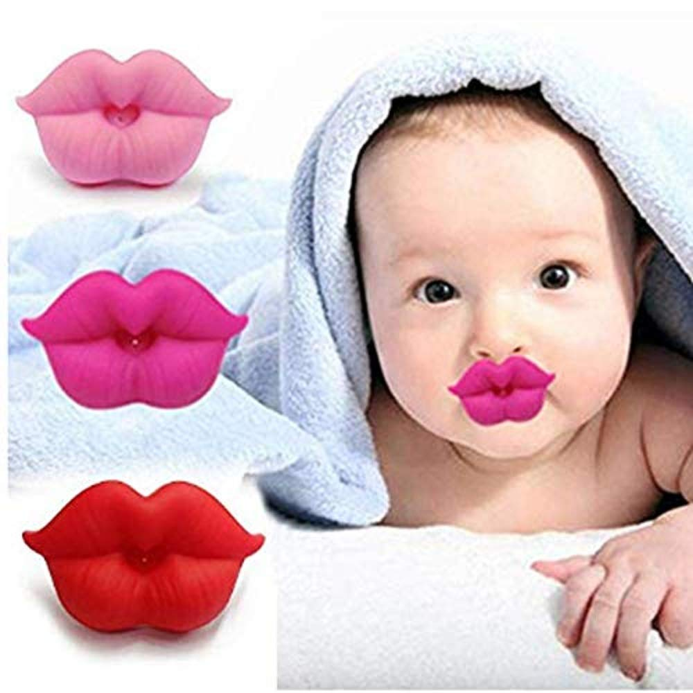 Gijoki Newborn Infants Silicone Pacifier Cute Lip Mouth Baby Soother Pacifier Pacifiers