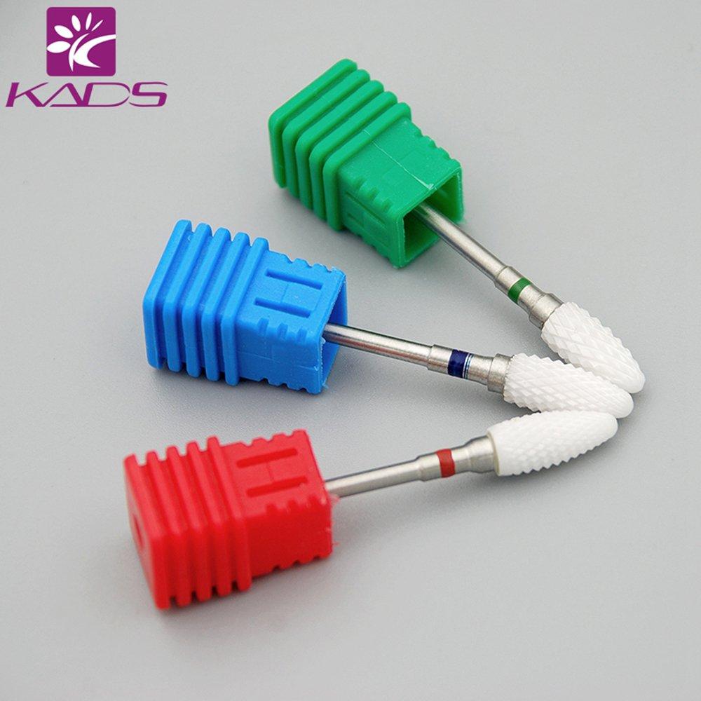 KADS Fiamma ceramica del chiodo del trapano del chiodo 3Pcs/lime rotatorio elettrico a forma di pallottola del chiodo KADS Co. Ltd