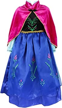 Elsa & Anna Princesa Disfraz Traje Parte las Niñas Vestido (Girls ...