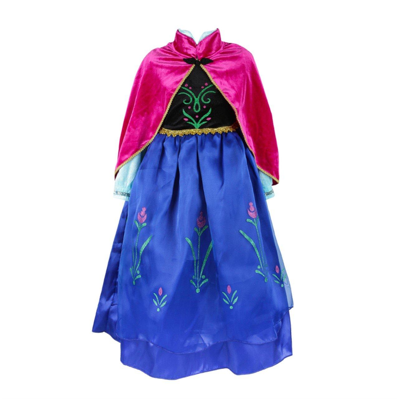 ELSA & ANNA® Princesa Disfraz Traje Parte Las Niñas Vestido (Girls Princess Fancy Dress) ES-DRESS308-SEP (3-4 Años, ES-SEP308) product image