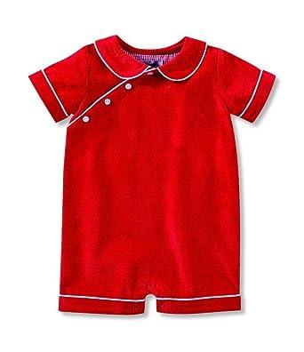 7aee7990babc Amazon.com  Red Corduroy Bubble (0-3 Months)  Clothing