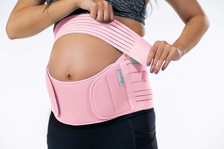 3 en 1 Cintur/ón de Maternidad Material Suave el/ástico y Transpirable para Soporte de elevaci/ón para aliviar el Dolor de Espalda MDHAND Cintur/ón de Soporte para el Embarazo Cadera y Piso p/élvico