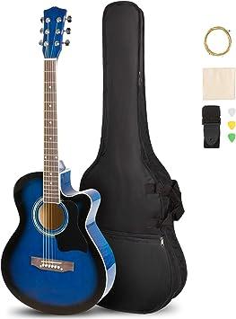 Amazon.com: Artall - Guitarra acústica brillante cortada a ...