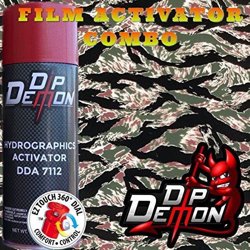 Combo Kit Vietnam Tiger Stripe Camouflage Camo Hydrographic Water Transfer Film Activator Combo Kit Hydro Dipping Dip Demon