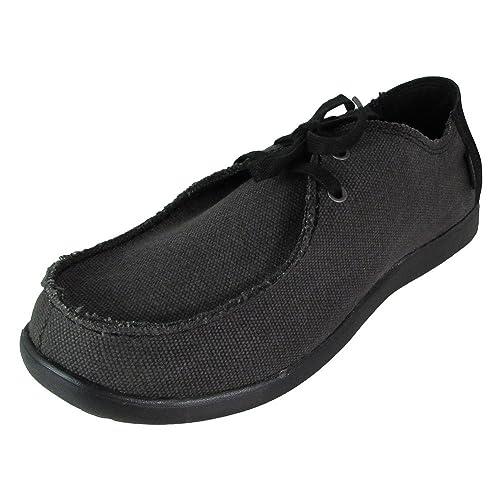 e6253f9926775 crocs Santa Cruz 2-Eye Canvas Men Shoe in Black  Buy Online at Low Prices  in India - Amazon.in