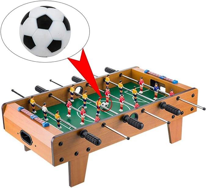 GZQ Mini Pelotas de Fútbol para Mesa 10 pcs 32 mm Juguete Balones de Futbolín Pelota de Recambio de Protección Plástico Acesorio Juguete Infantil: Amazon.es: Juguetes y juegos