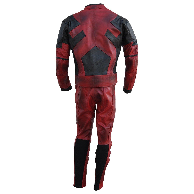 Classyak Deadpool - Traje de moto para hombre (piel ...