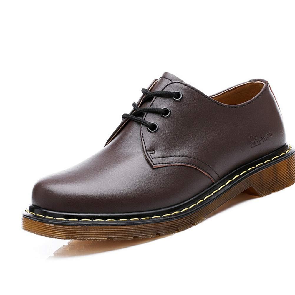 Feidaeu Herren Leder Britischen Stil Business Business Business Schuhe Lässig Atmungs Bequem Set Schuhe Sommer Einfarbig Hell  e571c9