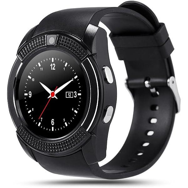 Hinmay V8 Bluetooth Smartwatch podómetro, tarjeta SIM GSM Smart ...