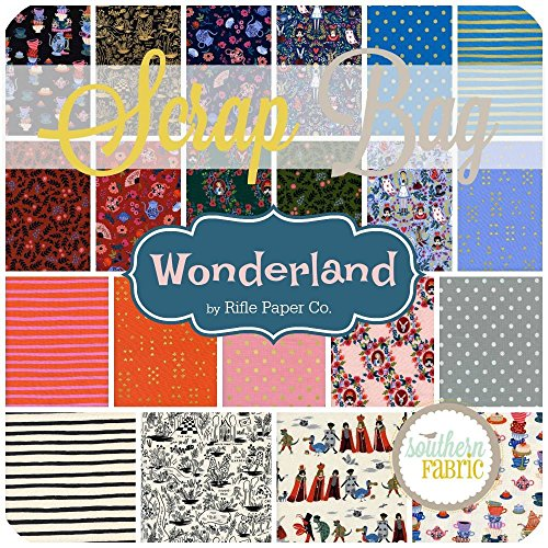 Wonderland Scrap Bag (approx 2 yards) by Rifle Paper Co. - Cotton and Steel DIY quilt fabric