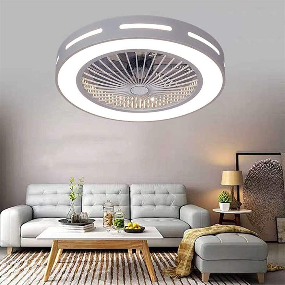 Moderno vivero creativo salón ventilador de techo dormitorio con una energía de iluminación LED de iluminación decorativa ventilador de techo control remoto con luces de fans,White