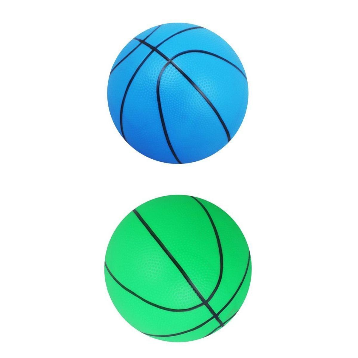 Baoblaze 2pcs Mini Basket Gonflable Jouet D'intérieur/Extérieur Jouet de Boule de Gonflable pour Enfants, 6 pouces