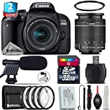 Canon EOS Rebel 800D/T7i Camera + 18-55mm IS STM Lens + 2yr Extended Warranty + 32GB Class 10 Memory Card + Macro Filter Kit + Cleaning Kit + UV Filter + Cleaning Brush - International Version