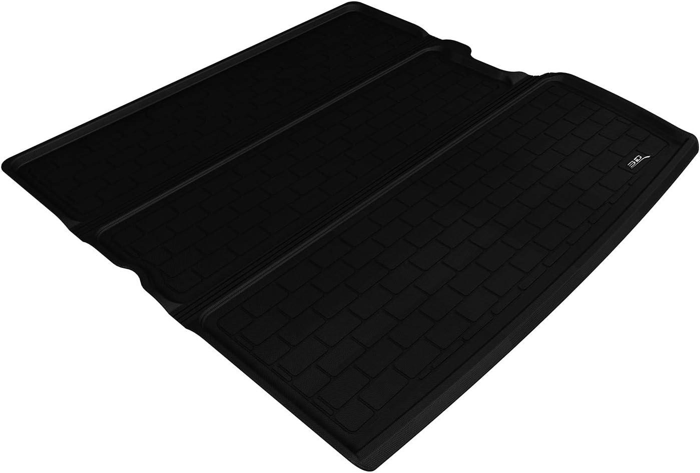 3D MAXpider M1VW0841309 Cargo Custom Fit All-Weather Floor Mat for Select Volkswagen Atlas Models Black Kagu Rubber
