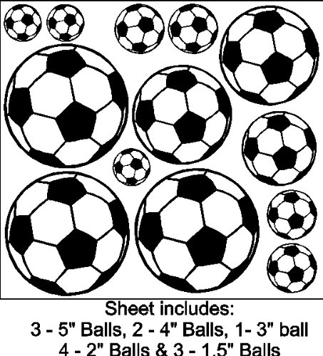 Soccer Ball Wall Stickers (Peel and Stick Soccer Ball Stickers Soccer Decal Wall Art)