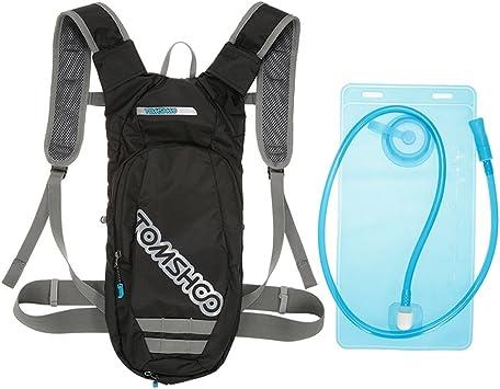 TOMSHOO Mochila Hidratación 2L,Running Mochila, Impermeable y Transpirable, para Correr, Marathoner, Senderismo, Camping, Caminar, Escalada, ...