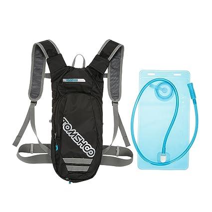 TOMSHOO Mochila Hidratación con 2L Bolsa de Agua Libre de BPA - Bolsa Ciclismo Mochila para
