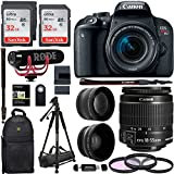 Canon EOS REBEL T7i 18-55mm Video Creator Kit.43x HD Wide Angle Lens, 2.2X HD Telephoto Lens, Sandisk 64GB, Filter Kit, Camera Shoulder Bag and Premium Accessory Bundle
