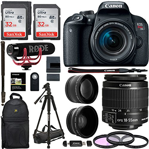 Canon EOS REBEL T7i 18-55mm Video Creator Kit.43x HD Wide An