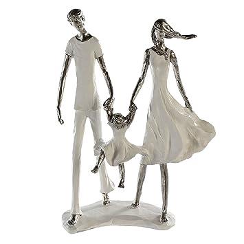 Casablanca Skulptur Dekofigur Family Weisssilber