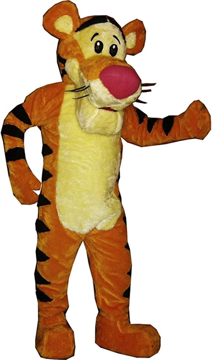 Winnie The Pooh Bear And Tigger Mascot Costume Fancy Party Game Dress Adult Size
