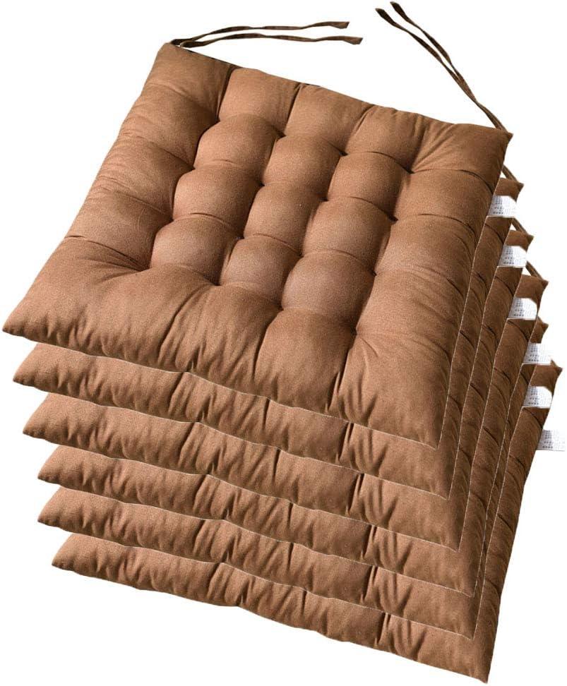 Arancione AGDLLYD Cuscino Sedia 38 38 1,8cm,Cuscini da Sedia Trapuntati,Morbido Cuscino per Sedia Cuscino Sedia Cucina da Giardino,Disponibile in Tanti Colori Diversi