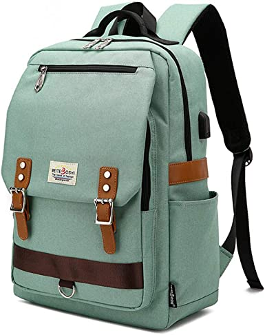 Retro Chic Canvas Men School Travel Casual Shoulder Bag Laptop Backpack Rucksack