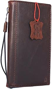 Genuine Italian Full Real Leather Case for iPhone 8 Book Wallet Thin Cover Handmade Luxury Cards Slots Retro Classic Slim Holder DavisCase