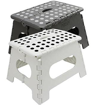 Klapphocker weiß  Klapphocker belastbar bis 150 kg   Tritthocker   Klapptritt ...