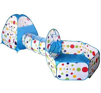 3 en 1 Enfants Bébé Tente de Jeu Tunnel Maison Intérieur Extérieur Jouets