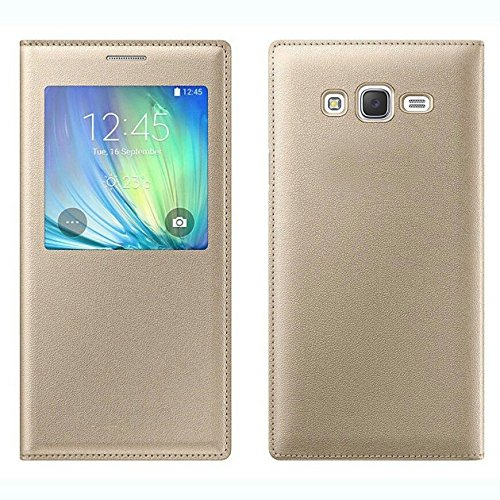 COVERNEW Flip Cover for Samsung Galaxy On5 Pro   Golden