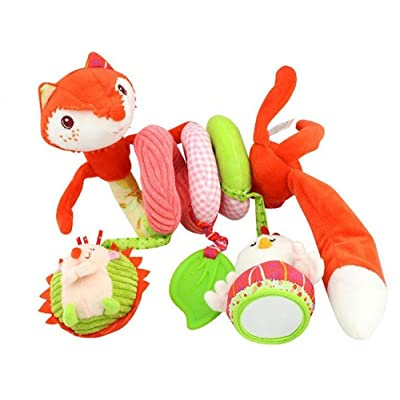 Stroller Toy Fox Bed Hanging Toys,Spiral Activity Toy Swings,Baby Seat Handles,Shopping Cart Fandles,Stroller,etc Spiral Hanging Toys for 3 Months Up for Birthday Gifts/Christmas Gifts Halloween/Gifts: Toys & Games