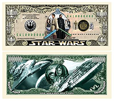 American Art Classics Set of 5 - Limited Edition Star Wars Collectible Million Dollar Bill