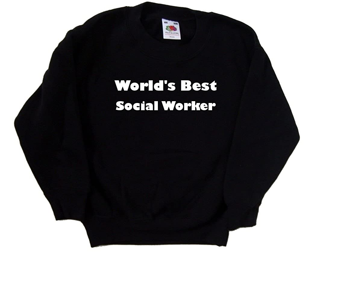 Worlds Best Social Worker Black Kids Sweatshirt