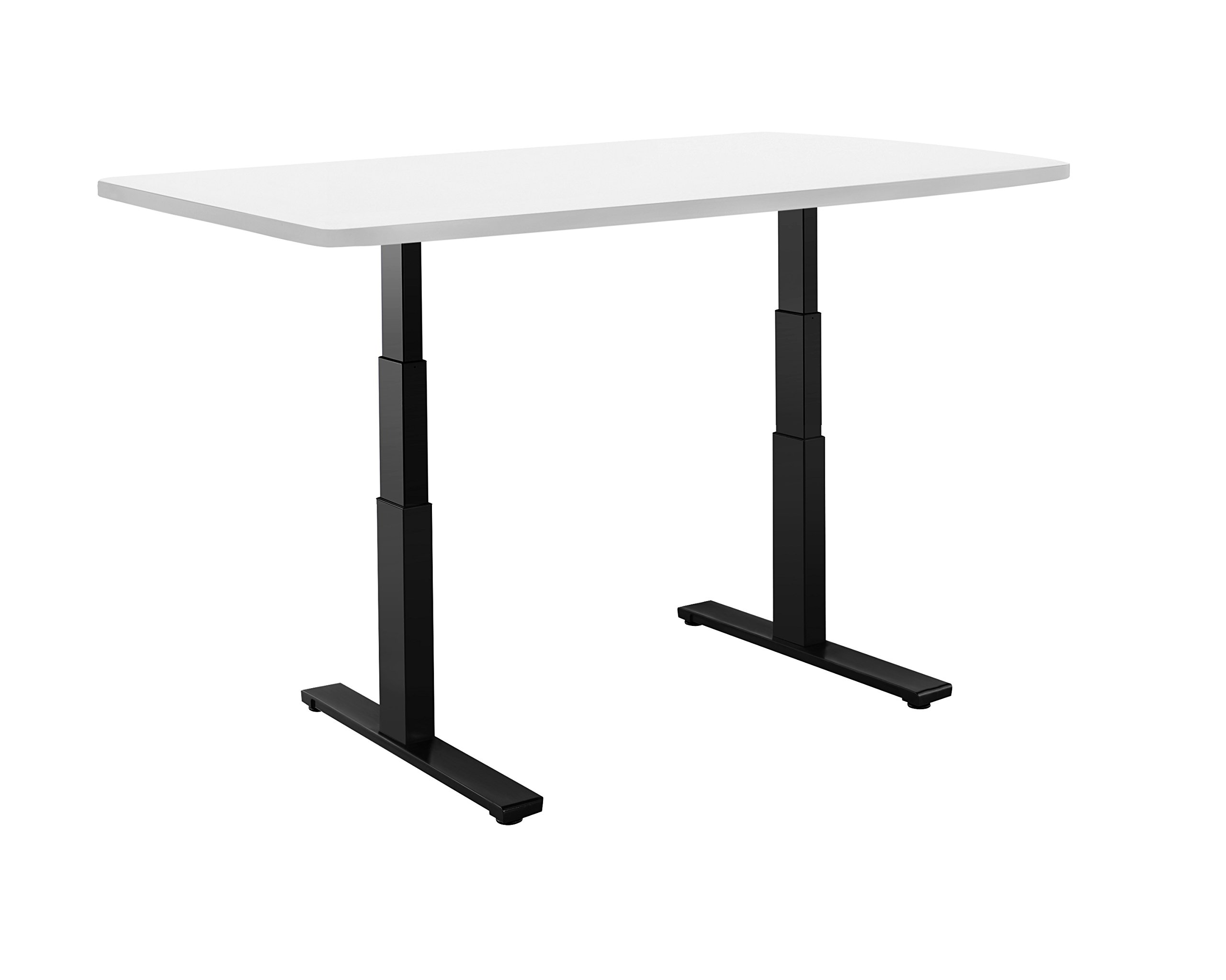 Autonomous Classic Sit-to-Stand Desk with Black Frame, Solid White Top