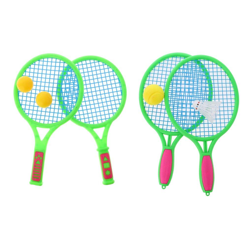 MonkeyJack Beach Balls Set Bat Tennis Catch Rackets Racquets Badminton Toys Outdoor Fun Party Games