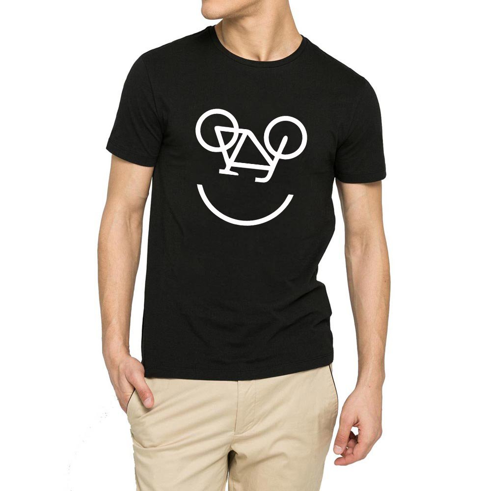 Loo Show S Bicycle Smile Face Funny Casual T Shirts Tee