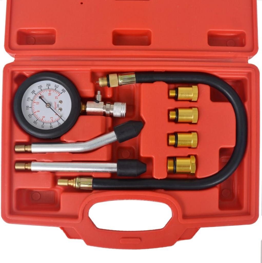 Kompressionstester Adapter Benzinmotor Tester vidaXL Kompressionspr/üfer 8-TLG